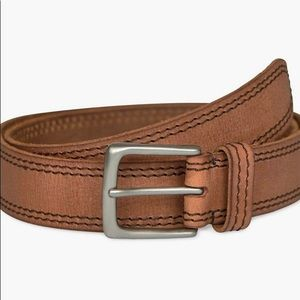 Brown Leather Contrast Stitch Lucky Brand Belt
